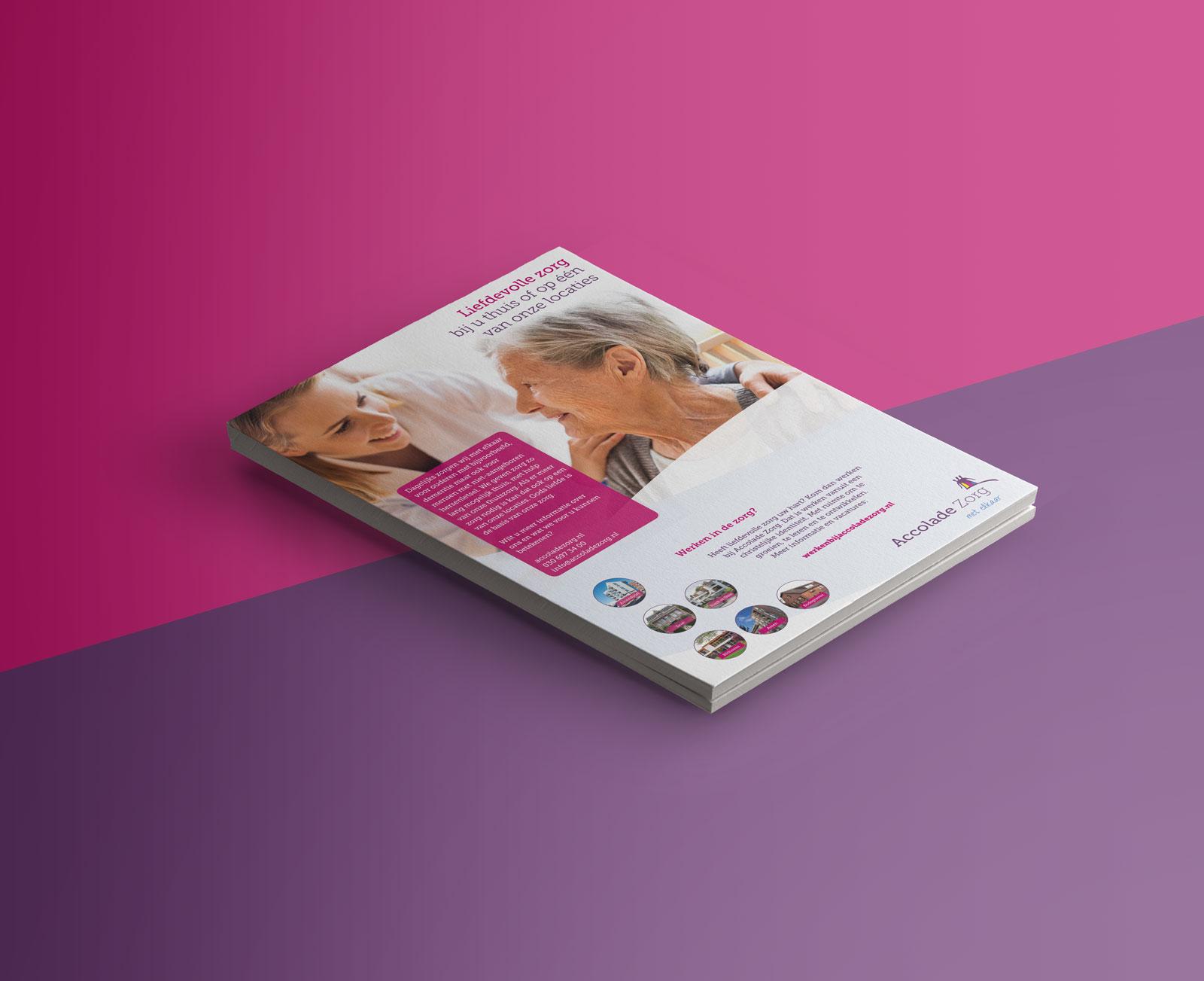 Beeldmarq | Advertentie | Print en drukwerk Accolade zorggroep