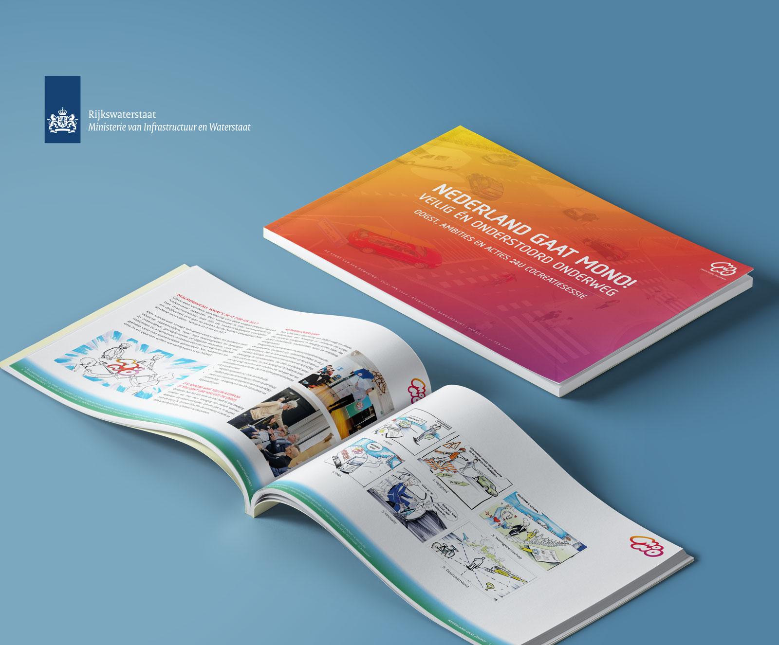 Beeldmarq | Ministerie van Infrastructuur en rijkswaterstaat | Mono | Print- en drukwerk